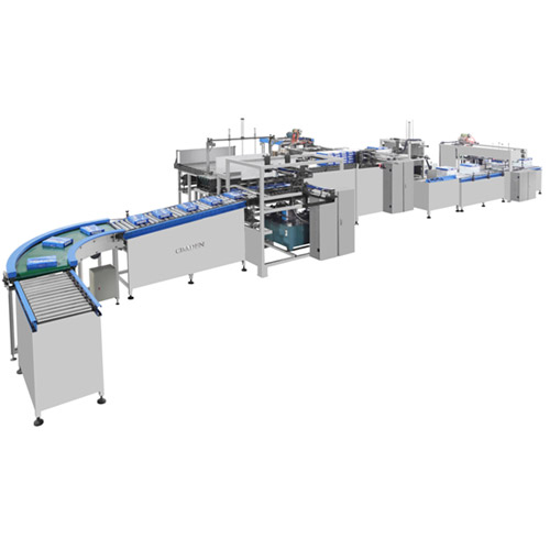 Flat Bottom Case Packer and Stacker Line
